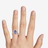 Кольцо с танзанитом капля в бриллиантовом ореоле, Изображение 3