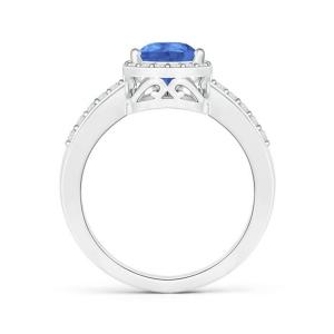 Кольцо с танзанитом огранки Груша и бриллиантами