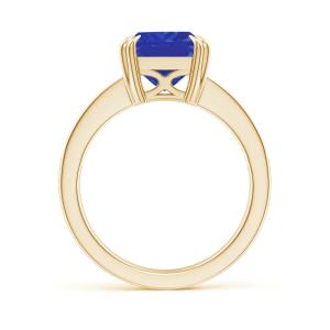 Кольцо из золота с танзанитом эмеральд и бриллиантами