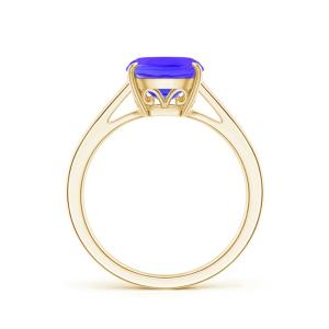Кольцо из золота с танзанитом кушон