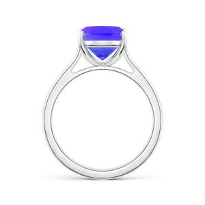 Кольцо классическое с танзанитом кушон