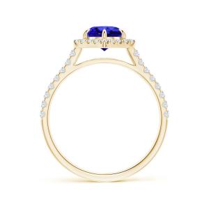 Кольцо с круглым танзанитом и бриллиантами Miel