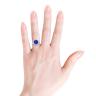 Кольцо с танзанитом и бриллиантами Цветок, Изображение 4