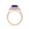 Кольцо с танзанитом и бриллиантами Цветок, Изображение 2