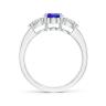 Кольцо с овальным танзанитом и бриллиантами, Изображение 2