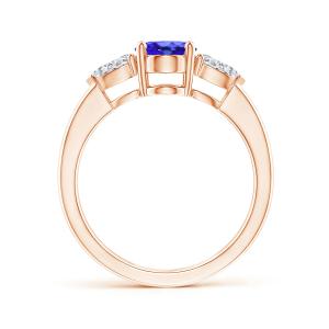 Кольцо с танзанитом и бриллиантами