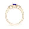 Кольцо с танзанитом 8x6 мм и бриллиантами, Изображение 2