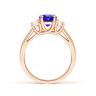 Кольцо с овальным танзанитом и двумя бриллиантами, Изображение 2
