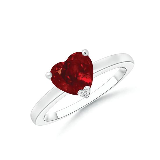 Кольцо с рубином Сердце, Больше Изображение 1
