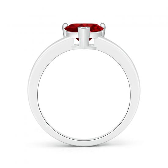 Кольцо с рубином Сердце,  Больше Изображение 2