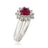 Кольцо с рубином сердце в бриллиантовом ореоле, Изображение 2