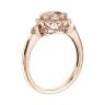 Кольцо с круглым морганитом в окружении бриллиантов, Изображение 2