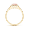 Кольцо золотое с морганитом капля в бриллиантовом ореоле, Изображение 2