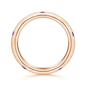 Кольцо дорожка с аметистами 0,3 карата