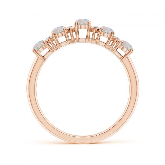 Кольцо дорожка с опалами и бриллиантами,  Больше Изображение 2