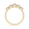 Кольцо золотое дорожка с опалами и бриллиантами, Изображение 2