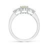 Кольцо с опалом и боковыми бриллиантами, Изображение 2