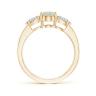 Кольцо с овальным опалом и боковыми бриллиантами, Изображение 2