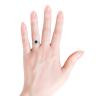 Кольцо с круглым топазом в бриллиантовом ореоле, Изображение 4