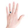Кольцо из золота с топазом эмеральд и бриллиантами, Изображение 4