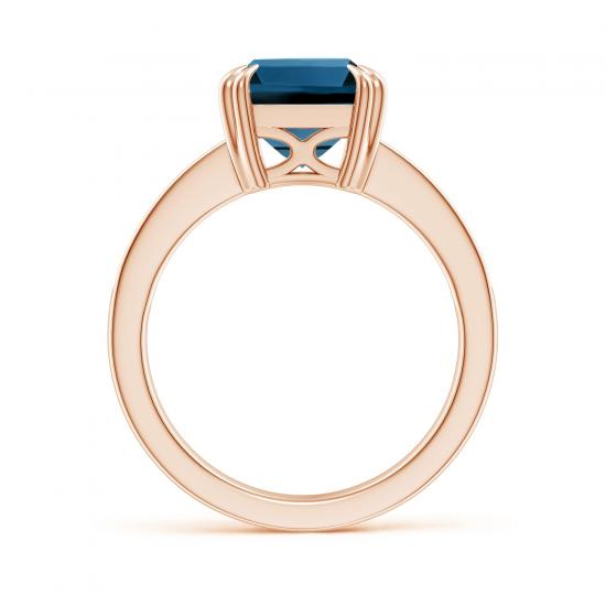 Кольцо с топазом эмеральд и бриллиантами,  Больше Изображение 2