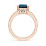 Кольцо с топазом эмеральд и бриллиантами, Изображение 2