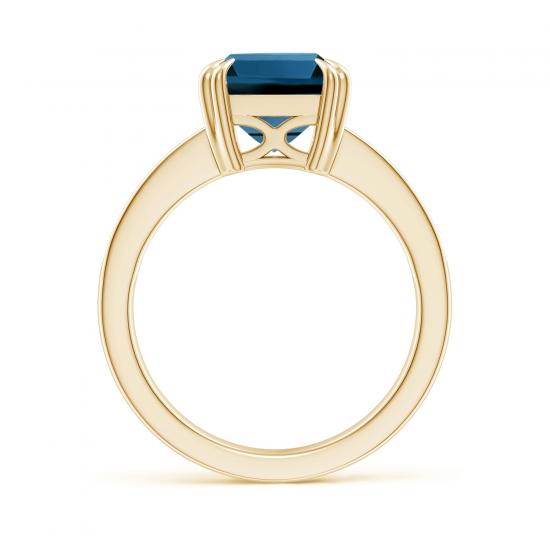 Кольцо из золота с топазом эмеральд и бриллиантами,  Больше Изображение 2