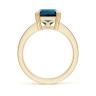 Кольцо из золота с топазом эмеральд и бриллиантами, Изображение 2