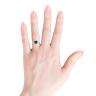 Кольцо с топазом сердце и тонкой дорожкой, Изображение 3