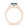 Кольцо с топазом сердце и бриллиантами, Изображение 2