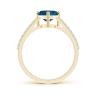 Кольцо из золота с топазом сердце и бриллиантами, Изображение 2