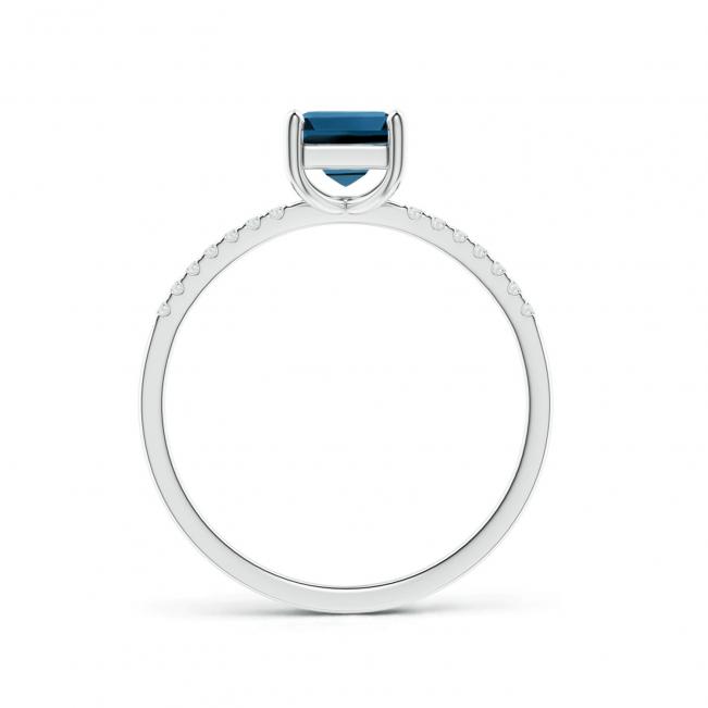 Кольцо с квадратным топазом из белого золота - Фото 1