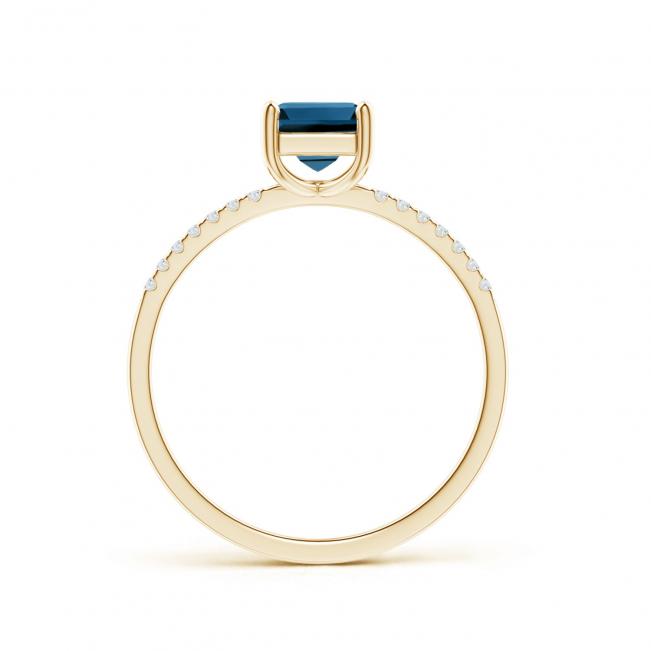 Кольцо с топазом и бриллиантами - Фото 1