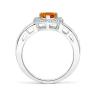 Кольцо с цитрином сердце в бриллиантовом паве, Изображение 2
