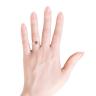 Кольцо с цитрином сердце в бриллиантовом ореоле, Изображение 3