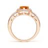 Кольцо с цитрином сердце в бриллиантовом ореоле, Изображение 2