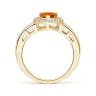 Кольцо с цитрином сердце и бриллиантами, Изображение 2