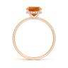 Кольцо с цитрином кушон и дорожкой из бриллиантов, Изображение 2