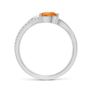 Кольцо с цитрином капля и паве из бриллиантов