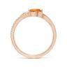 Кольцо с цитрином капля и бриллиантами, Изображение 2