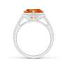Кольцо с треугольным цитрином  10 мм в бриллиантовом ореоле, Изображение 2