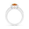Кольцо с цитрином Груша в бриллиантовом ореоле, Изображение 2