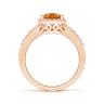 Кольцо с цитрином капля в бриллиантовом ореоле, Изображение 2