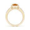 Кольцо золотое с цитрином капля и бриллиантами, Изображение 2