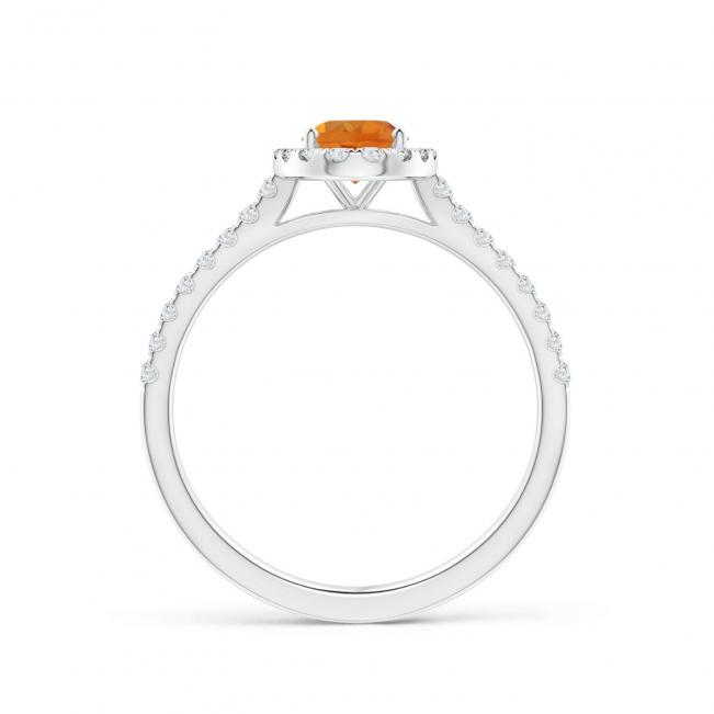 Кольцо с цитрином в бриллиантовом ореоле - Фото 1