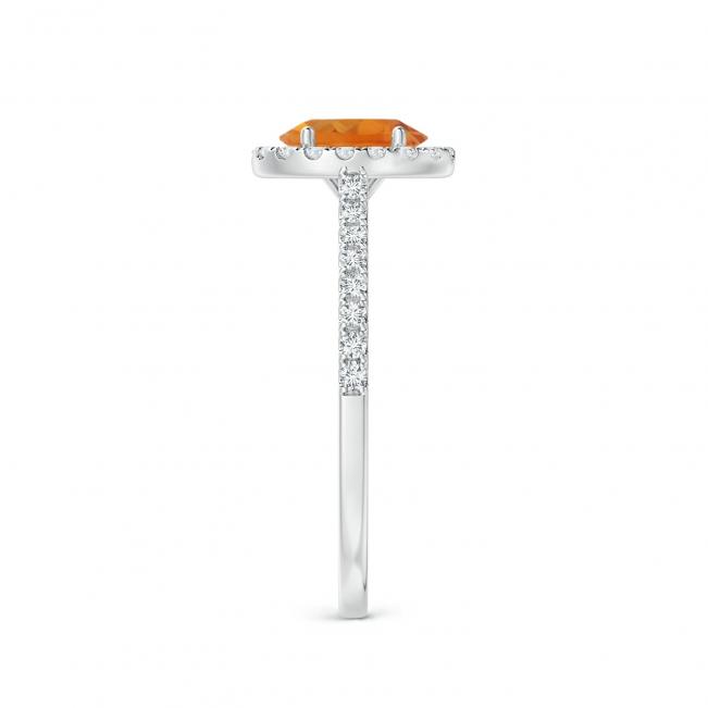 Кольцо с цитрином в бриллиантовом ореоле - Фото 2