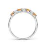 Кольцо дорожка с чередованием цитринов и бриллиантов, Изображение 2