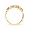 Кольцо дорожка из золота с цитринами и бриллиантами, Изображение 2
