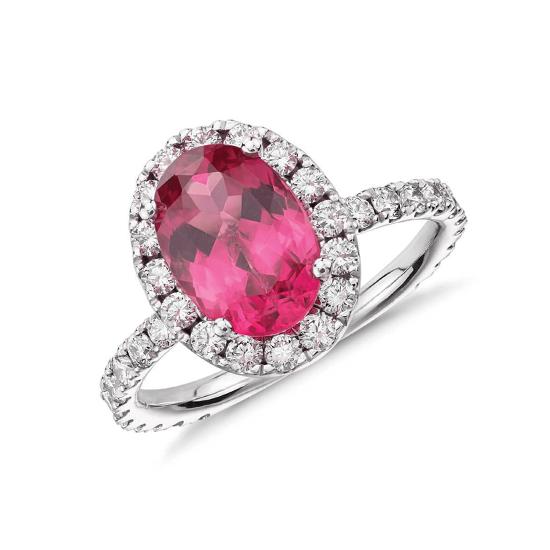 Кольцо с розовой шпинелью, Больше Изображение 1