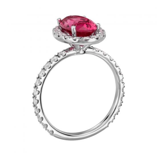 Кольцо с розовой шпинелью,  Больше Изображение 2